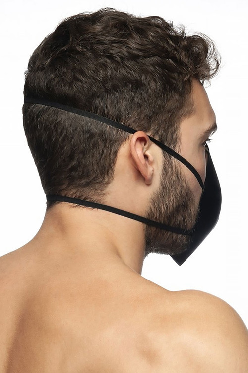ES Collection Mask Up AC085-10 Black - Mens Reusable Face Masks - Rear View - Topdrawers Protective Gear for Men