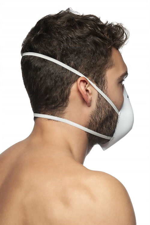 ES Collection Mask Up AC085-01 White - Mens Reusable Face Masks - Rear View - Topdrawers Protective Gear for Men