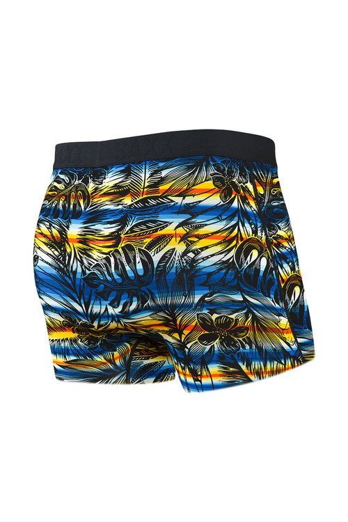 Saxx Ultra Trunk w/ Fly   Black Havana Cabana SXTR30F-HCB - Mens Boxer Briefs - Rear View - Topdrawers Underwear for Men