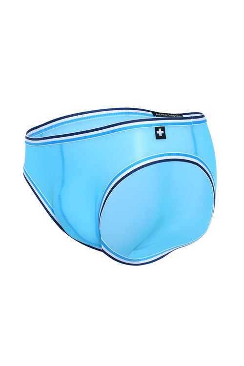 Andrew Christian Sheer Mesh Boy Brief Almost Naked 91832-AQ Aqua  - Mens Briefs - Garment View - Topdrawers Underwear for Men