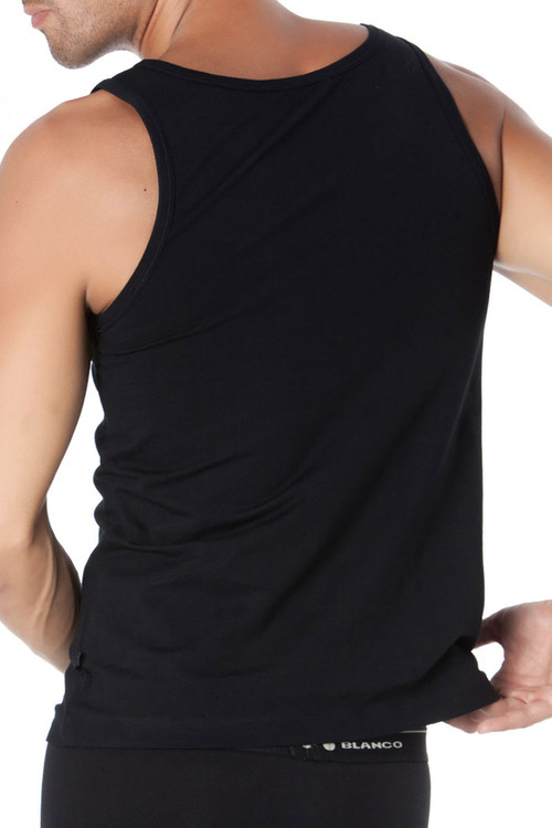Punto Blanco Singlet Basix 5317620-090 - Mens Tank Tops - Rear View - Topdrawers Underwear for Men