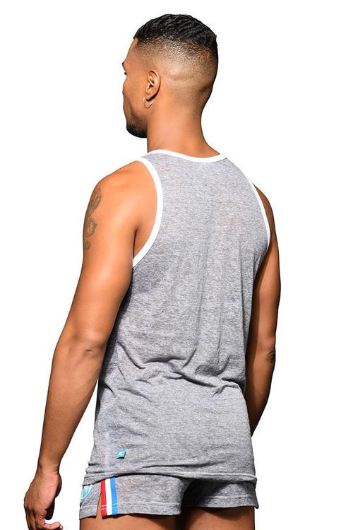 Andrew Christian California Superhero Burnout Tank 2802 - Mens Tank Tops - Rear View - Topdrawers Clothing for Men