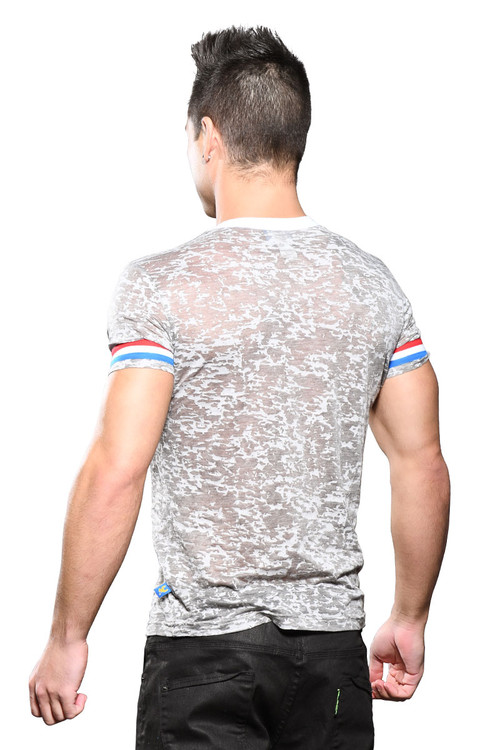 Andrew Christian California Superhero Burnout Tee 10311 - Mens T-Shirts - Rear View - Topdrawers Clothing for Men