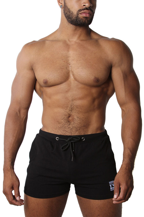 CellBlock 13 Relay Short CBS207-BL Black - Mens Athletic Shorts - Front View - Topdrawers Clothing for Men