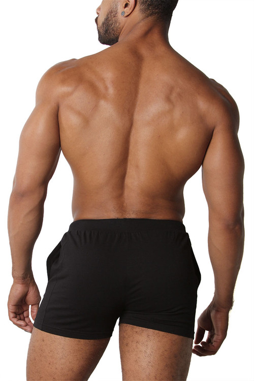 CellBlock 13 Relay Short CBS207-BL Black - Mens Athletic Shorts - Rear View - Topdrawers Clothing for Men