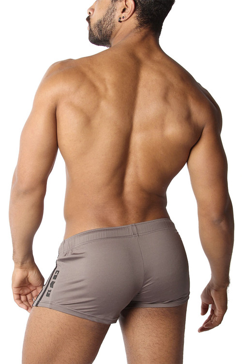 CellBlock 13 Cyclone 2.0 Short w/ Cock Pouch CBS223-GR Grey - Mens Athletic Shorts - Rear View - Topdrawers Clothing for Men
