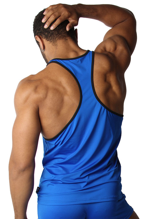 CellBlock 13 Cyclone 2.0 Tank Top CBS224-BU Blue - Mens Athletic Tank Tops - Rear View - Topdrawers Clothing for Men