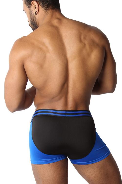 CellBlock 13 Cyclone 2.0 Trunk CBU269-BU Blue - Mens Boxer Briefs - Rear View - Topdrawers Underwear for Men