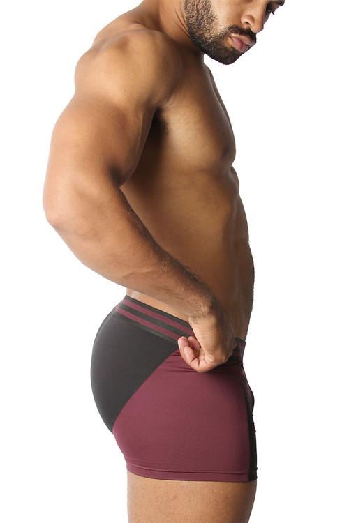 CellBlock 13 Cyclone 2.0 Trunk CBU269-BUR Burgundy - Mens Boxer Briefs - Side View - Topdrawers Underwear for Men