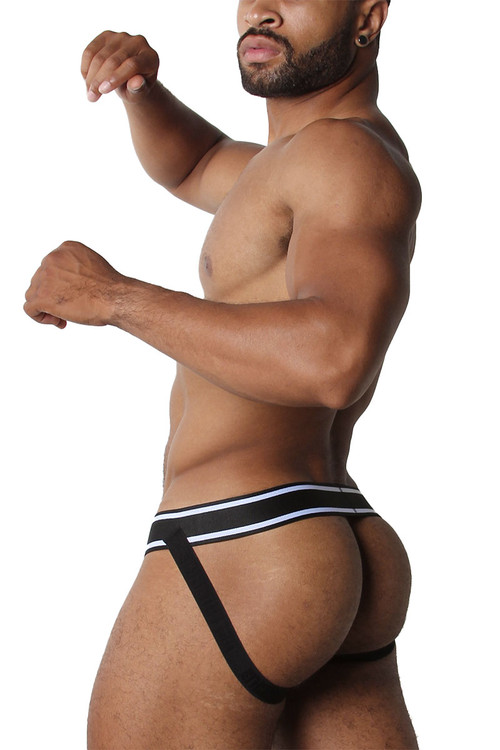 CellBlock 13 Relay Mesh Jockstrap CBU225-WH White - Mens Jockstraps - Side View - Topdrawers Underwear for Men