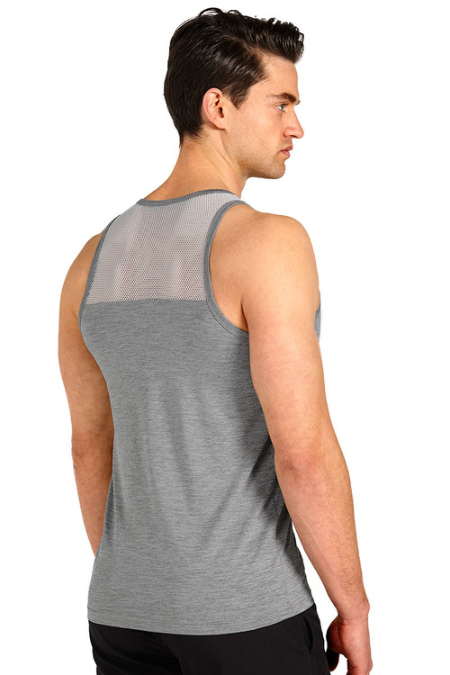 Teamm8 Duo Net Tank TC-DUOT-SV Silver - Mens Athletic Tank Tops - Rear View - Topdrawers Clothing for Men