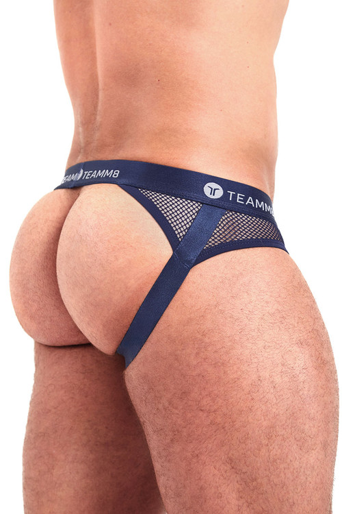 Teamm8 Score Jock TU-JKSCORE-NV Navy Blue - Mens Jockstraps - Rear View - Topdrawers Underwear for Men
