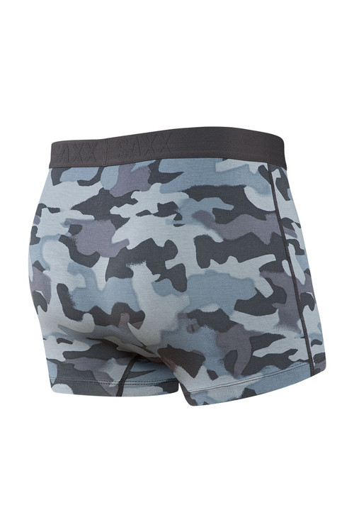 Saxx Ultra Trunk w/ Fly   Graphite Stencil Camo SXTR30F-GSC - Mens Boxer Briefs - Rear View - Topdrawers Underwear for Men