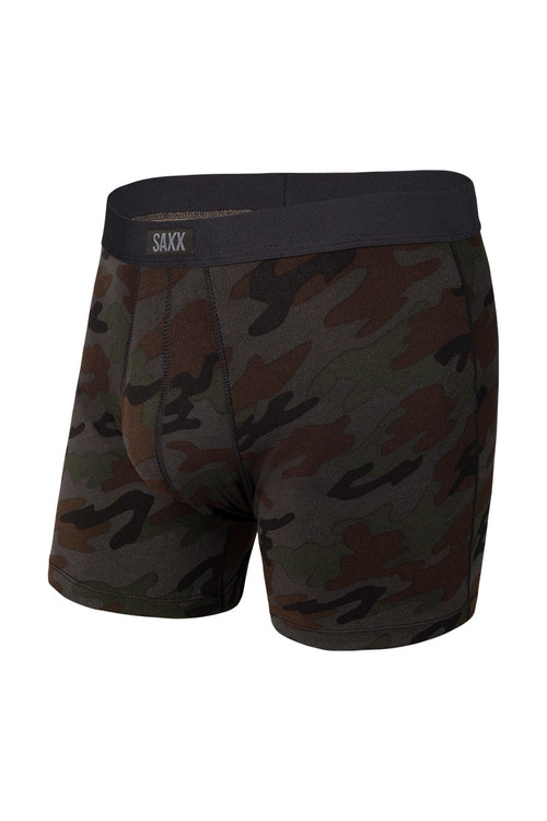Saxx Daytripper Boxer Brief w/ Fly   Black Ops Camo SXBB11F-OCB - Mens Boxer Briefs - Front View - Topdrawers Underwear for Men