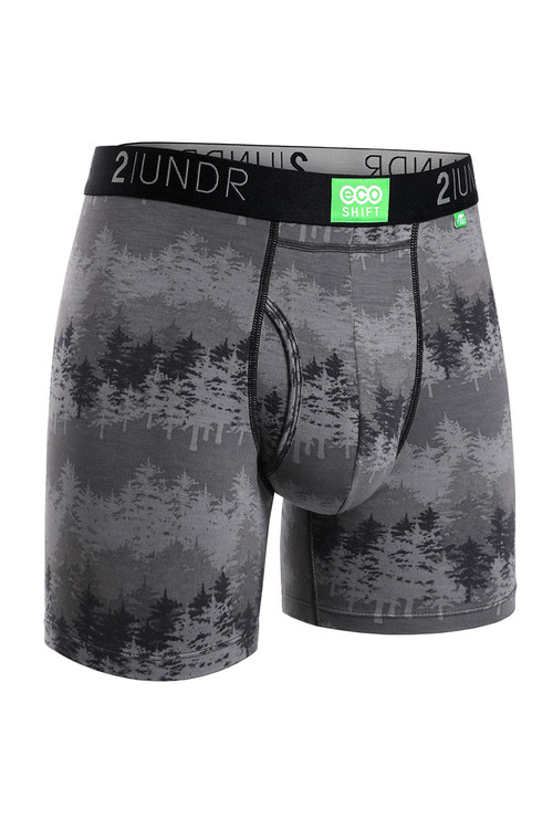 2UNDR Eco Shift Boxer Brief Forest 2U22BB-170 - Mens Boxer Briefs - Front View - Topdrawers Underwear for Men