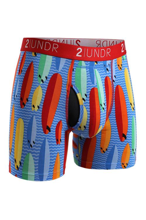 2UNDR Swing Shift Boxer Brief Surf Shop 2U01BB-200 - Mens Boxer Briefs - Front View - Topdrawers Underwear for Men
