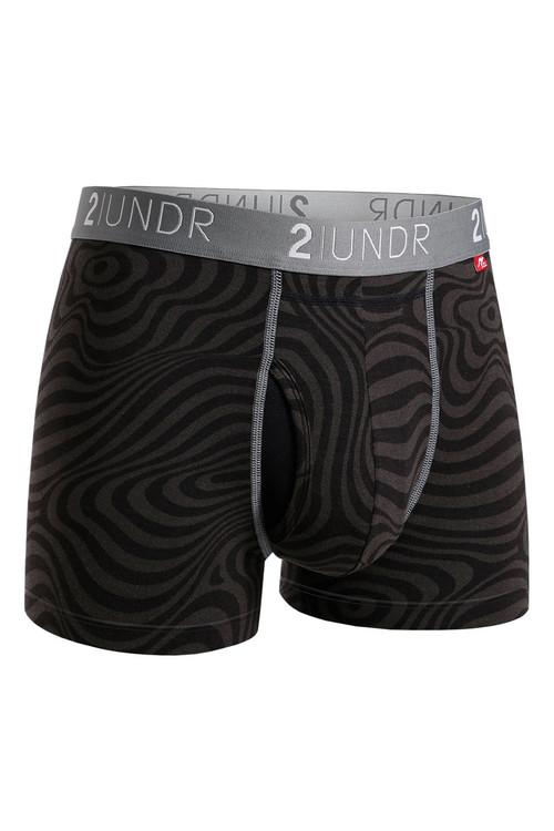 2UNDR Swing Shift Trunk Zebrata 2U01TR-190 - Mens Boxer Briefs - Front View - Topdrawers Underwear for Men