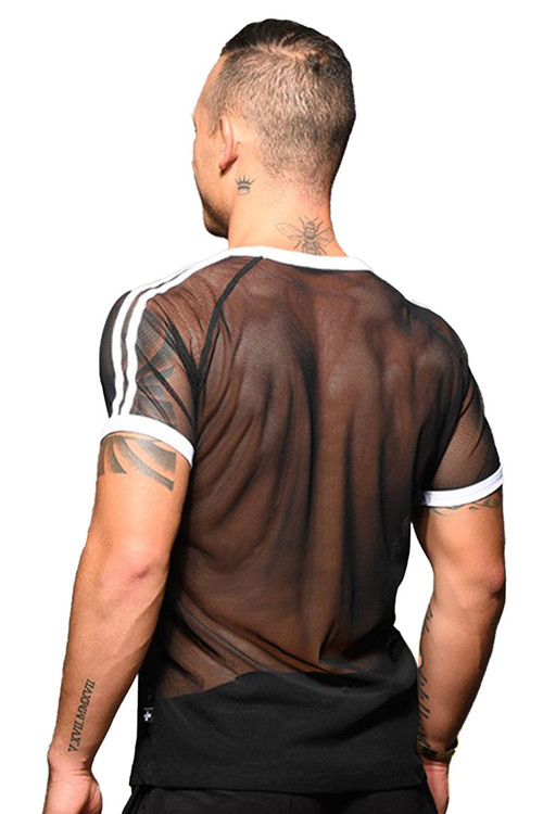 Andrew Christian Performance Net Tee 10308 - Mens T-Shirts - Rear View - Topdrawers Clothing for Men