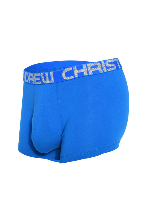 Andrew Christian Almost Naked Bamboo Boxer 91895-EBU Electric Blue - Mens Boxer Briefs - Garment View - Topdrawers Underwear for Men
