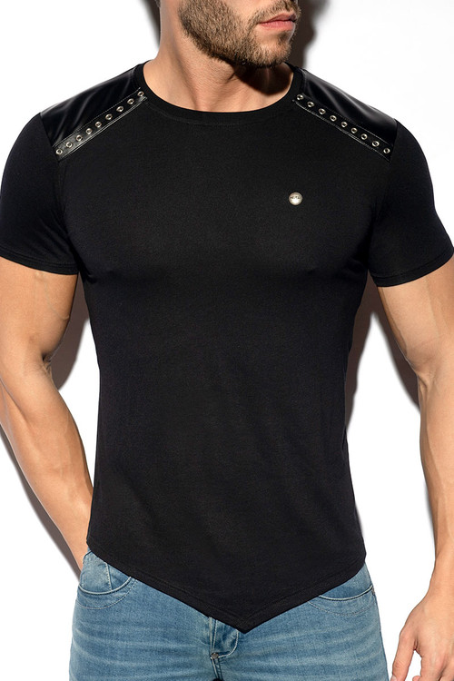 ES Collection Metal Tap T-Shirt TS290-10 Black - Mens T-Shirts - Front View - Topdrawers Clothing for Men