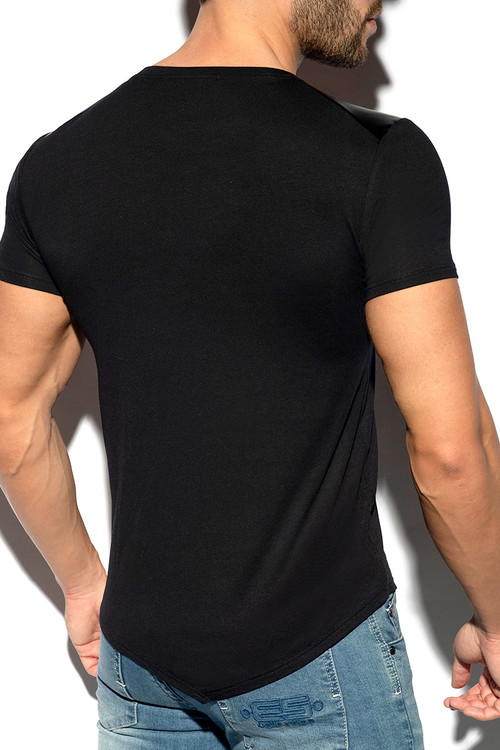 ES Collection Metal Tap T-Shirt TS290-10 Black - Mens T-Shirts - Rear View - Topdrawers Clothing for Men