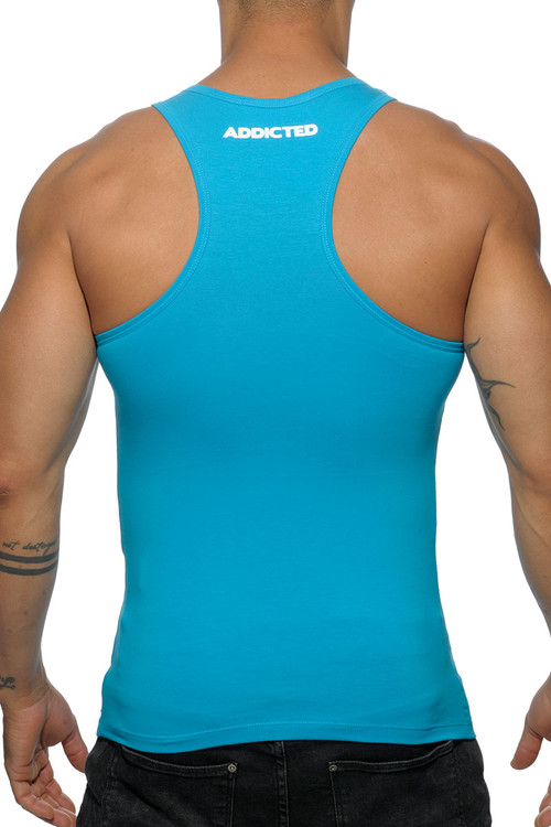 Addicted Basic AD Tank Top AD457-08 Turquoise - Mens Tank Tops - Rear View - Topdrawers Clothing for Men