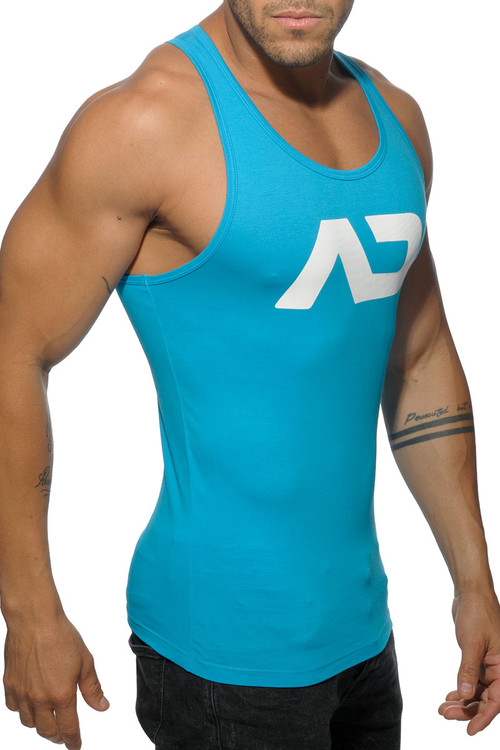 Addicted Basic AD Tank Top AD457-08 Turquoise - Mens Tank Tops - Side View - Topdrawers Clothing for Men