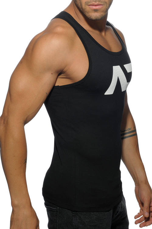 Addicted Basic AD Tank Top AD457-10 Black - Mens Tank Tops - Side View - Topdrawers Clothing for Men