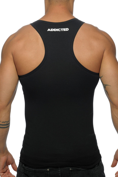 Addicted Basic AD Tank Top AD457-10 Black - Mens Tank Tops - Rear View - Topdrawers Clothing for Men