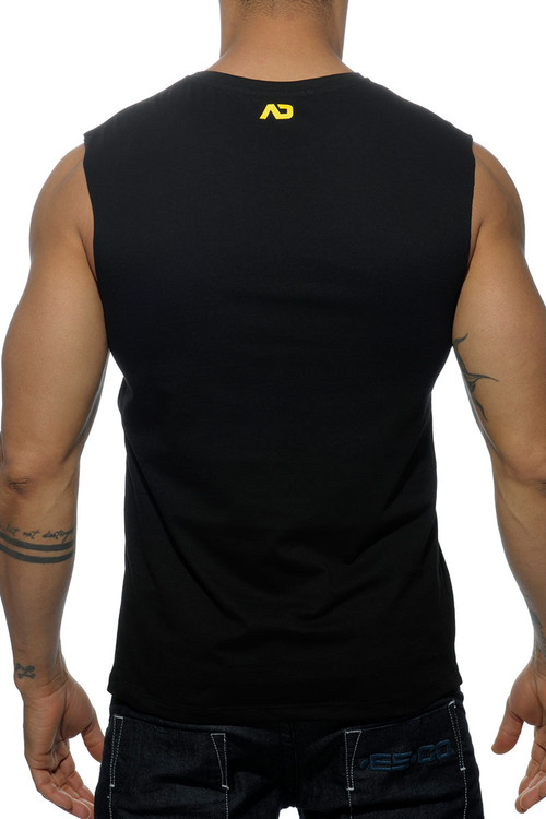 Addicted Society Bears Pocket Tank Top AD571-10 Black - Mens Tank Tops - Rear View - Topdrawers Clothing for Men