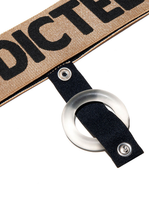 Addicted Removable Cockring Band AD859-20 Gold - Mens Underwear Accessories - Close Up View - Topdrawers Underwear for Men