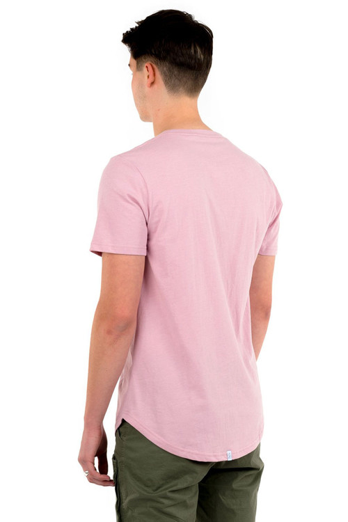 Kuwalla Tee Eazy Scoop Tee KUL-CT1851 Dusty Pink - Mens T-Shirts - Rear View - Topdrawers Clothing for Men