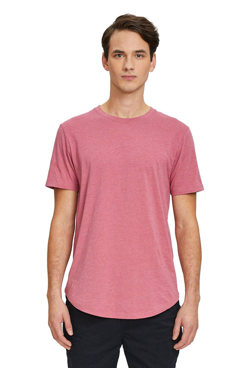 Kuwalla Tee Eazy Scoop Tee KUL-CT1851 Mauvewood - Mens T-Shirts - Front View - Topdrawers Clothing for Men