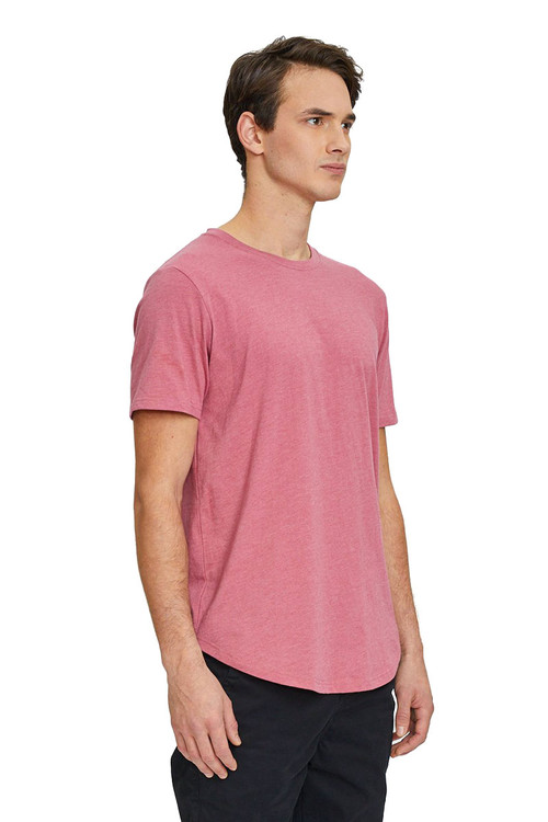 Kuwalla Tee Eazy Scoop Tee KUL-CT1851 Mauvewood - Mens T-Shirts - Side View - Topdrawers Clothing for Men
