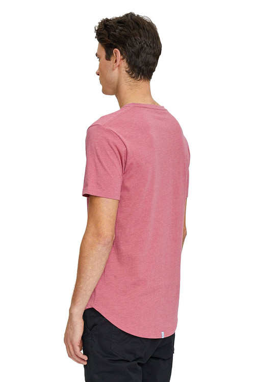 Kuwalla Tee Eazy Scoop Tee KUL-CT1851 Mauvewood - Mens T-Shirts - Rear View - Topdrawers Clothing for Men