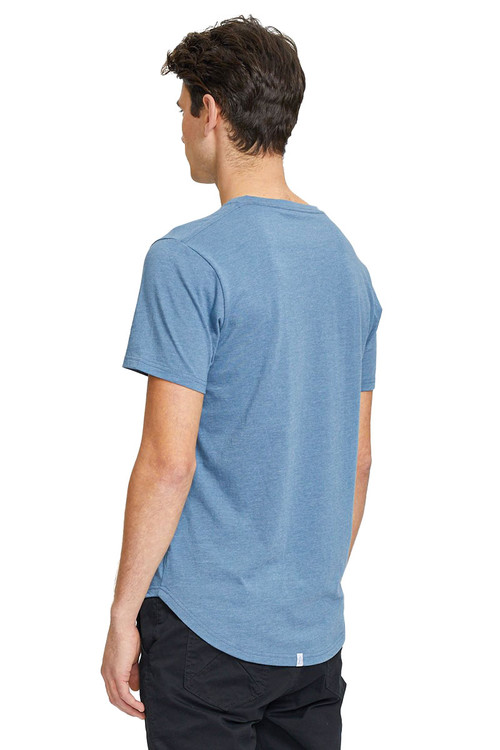 Kuwalla Tee Eazy Scoop Tee KUL-CT1851 Blue Stone - Mens T-Shirts - Rear View - Topdrawers Clothing for Men