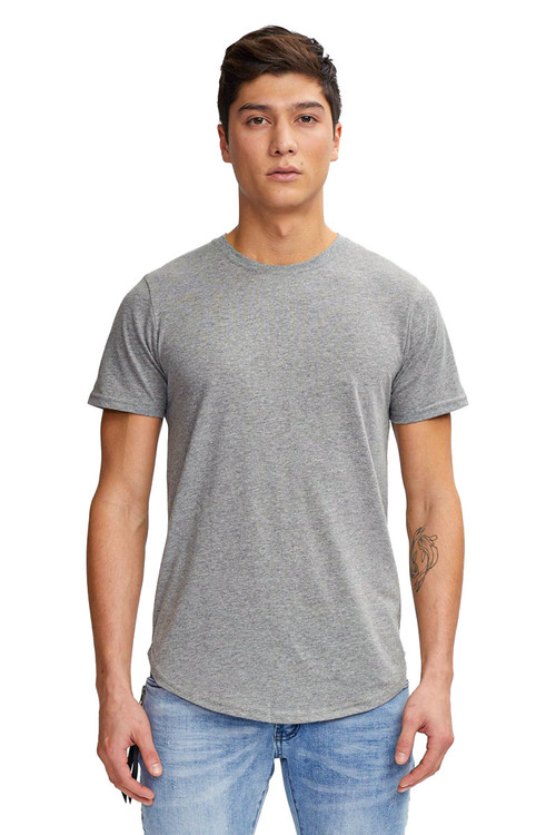 Kuwalla Tee Eazy Scoop Tee KUL-CT1851 Heather Grey - Mens T-Shirts - Front View - Topdrawers Clothing for Men