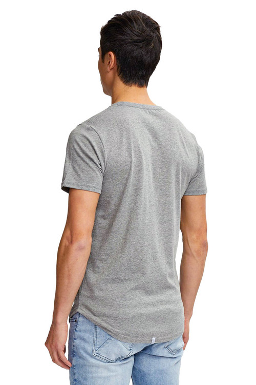 Kuwalla Tee Eazy Scoop Tee KUL-CT1851 Heather Grey - Mens T-Shirts - Rear View - Topdrawers Clothing for Men