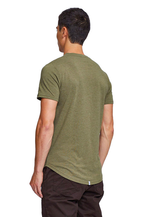 Kuwalla Tee Eazy Scoop Tee KUL-CT1851 Burnt Olive - Mens T-Shirts - Rear View - Topdrawers Clothing for Men
