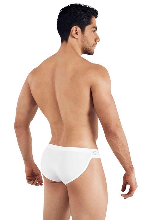 Clever Five Stars Latin Brief 5021-01 White - Mens Briefs - Rear View - Topdrawers Underwear for Men