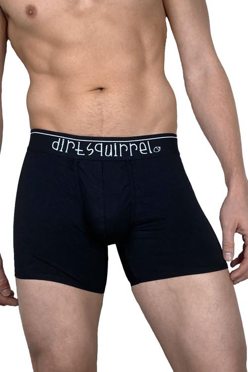 Dirt Squirrel Black Boxer Brief 0008  - Mens Boxer Briefs - Front View - Topdrawers Underwear for Men