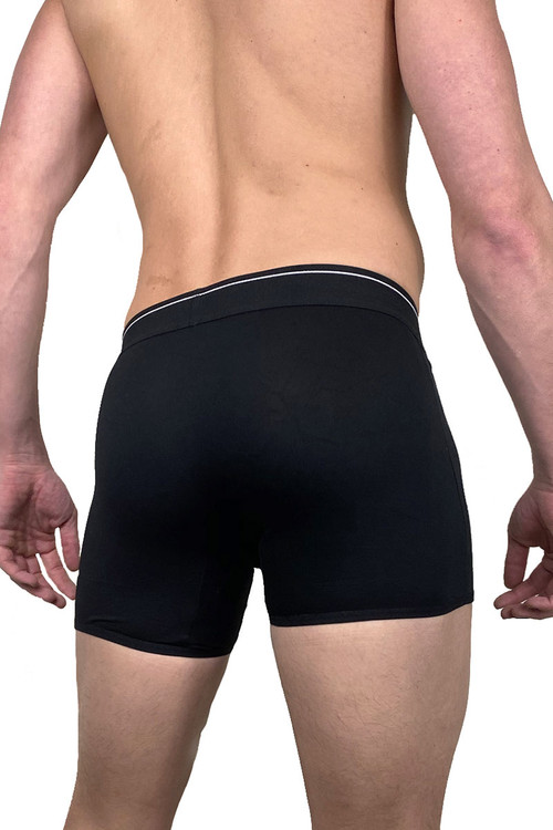 Dirt Squirrel Black Boxer Brief 0008  - Mens Boxer Briefs - Rear View - Topdrawers Underwear for Men