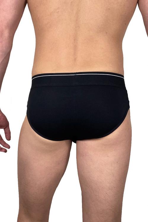 Dirt Squirrel Black Brief 0002  - Mens Briefs - Rear View - Topdrawers Underwear for Men