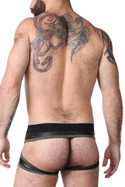 CellBlock 13 Night Hawk Jock Trunk CBU263-GN Green - Mens Jock Boxers - Rear View - Topdrawers Underwear for Men