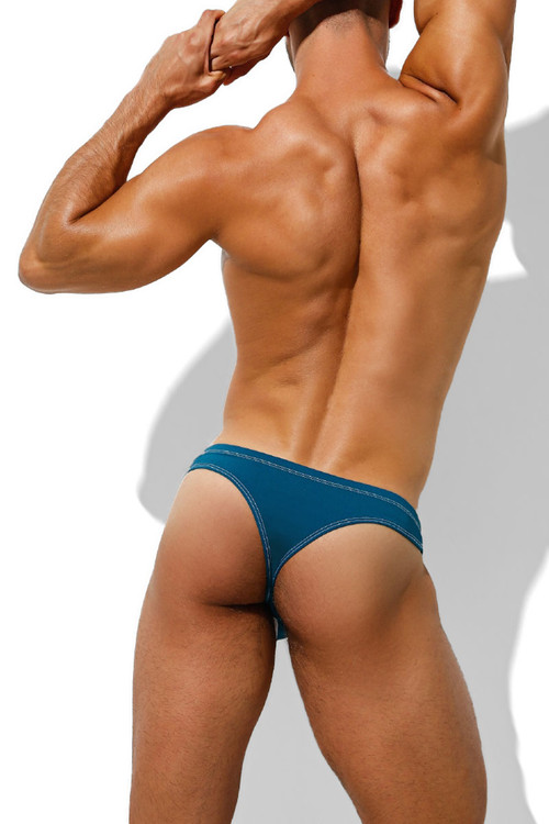 Intymen Passione Thong INK011-GNJ Green Jade - Mens Thongs - Rear View - Topdrawers Underwear for Men