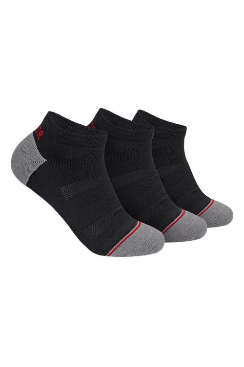 2UNDR 3-Pack Groove Ankle Sock | Black 2U73AS-BLK - Mens Socks - Front View - Topdrawers Underwear for Men