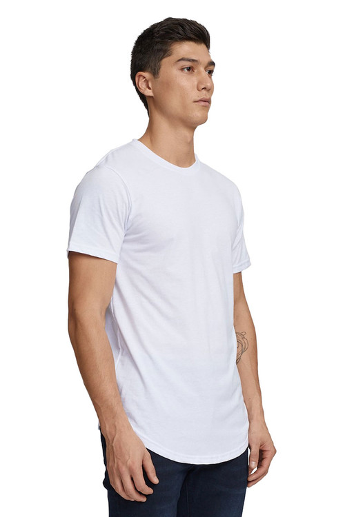 Kuwalla Tee Eazy Scoop Tee KUL-CT1851-WHT White - Mens T-Shirts - Side View - Topdrawers Clothing for Men
