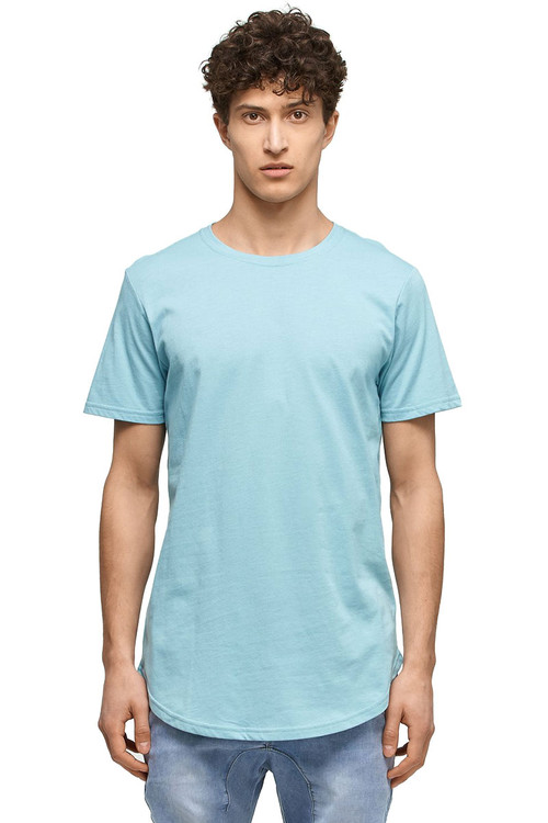 Kuwalla Tee Eazy Scoop Tee KUL-CT1851-MKBL Milky Blue- Mens T-Shirts - Front View - Topdrawers Clothing for Men