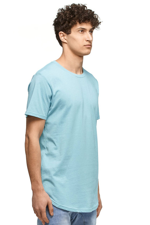 Kuwalla Tee Eazy Scoop Tee KUL-CT1851-MKBL Milky Blue- Mens T-Shirts - Side View - Topdrawers Clothing for Men