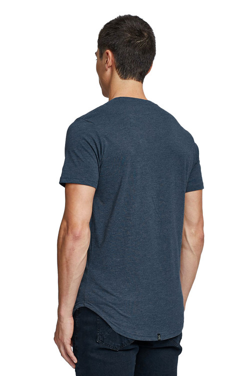 Kuwalla Tee Eazy Scoop Tee KUL-CT1851-NVY Navy Blue - Mens T-Shirts - Rear View - Topdrawers Clothing for Men